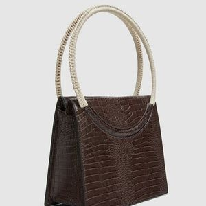 Zara Bags - NWT Embossed Faux Leather City Satchel